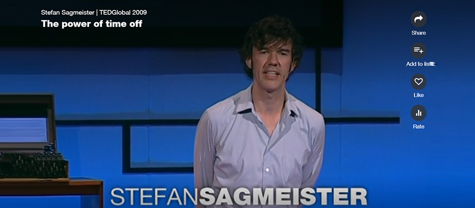 Stefan Sagmeister | TEDGlobal 2009 The power of time off 캡쳐 이미지