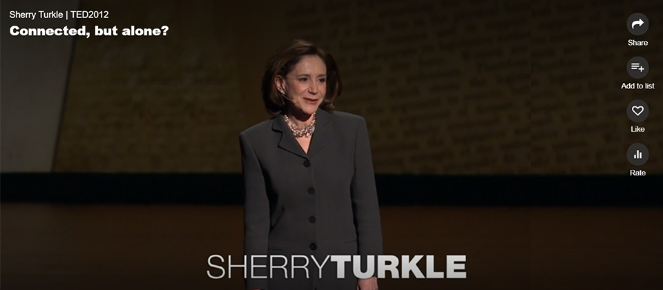 Sherry Turkle | TED2012 Connected, but alone? 캡쳐 이미지