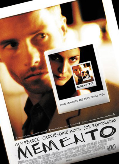 메멘토 포스터, GUY PEARCE CARRIE-ANNE MOSS JOE PANTOLIANO MEMENTO