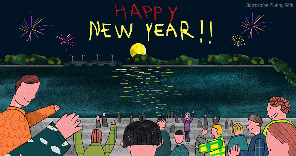 Happy New Year! (Illustration ⓑ Amy Shin)